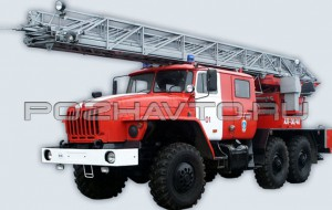 Автолестница пожарная АЛ-30/40 (Урал 4320)