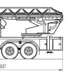 Автоподъемник пожарный АКП-28 (КамАЗ-43114) - чертеж, схема