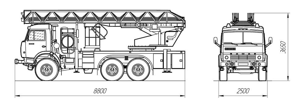 Автоподъемник пожарный АКП-28