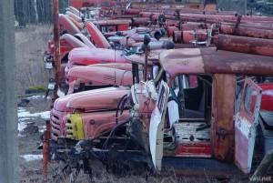 Военные избавляются от пожарных машин