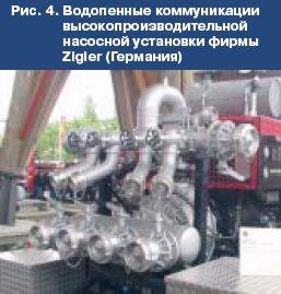 Насосные установки для пожарных автомобилей