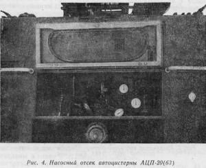 Насосный отсек автоцистерны АЦП-20(63)