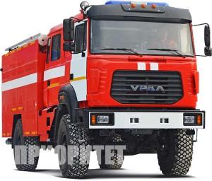 Пожарный автомобиль на базе УРАЛ