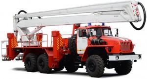 Автомобильный коленчатый пожарный подъемник АКП-28У (УРАЛ-4320)