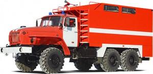Пожарный рукавный автомобиль АР-2 (УРАЛ-5557)