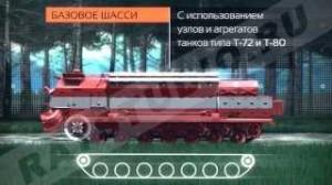 Специальная пожарная машина на базе танков Т-72 и Т-80