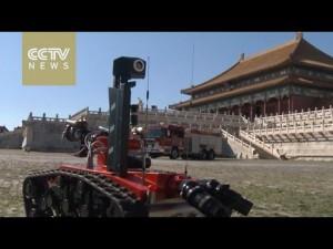 Китайские пожарные роботы в действии
