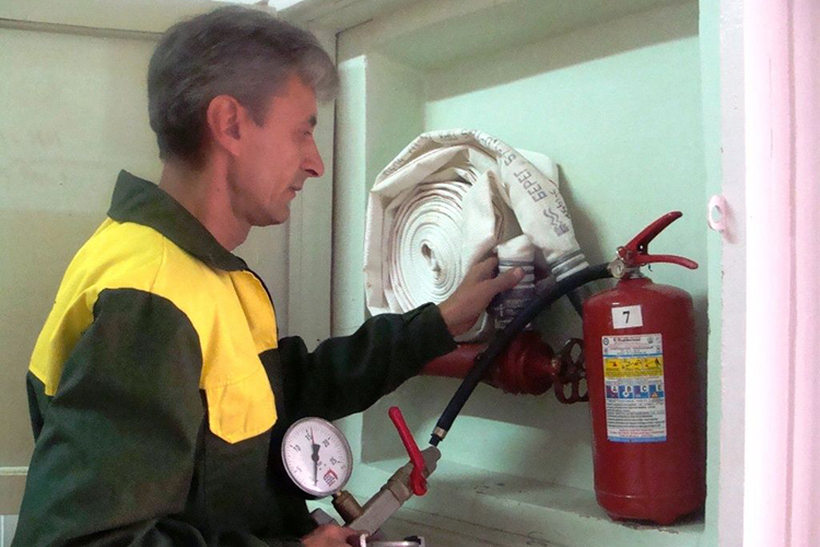 Проверка перекатки пожарных рукавов