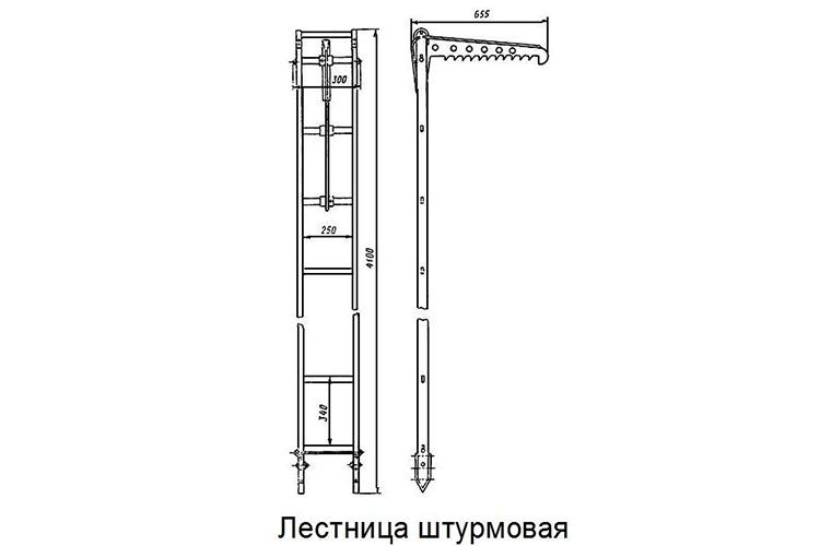 Пожарная штурмовая лестница