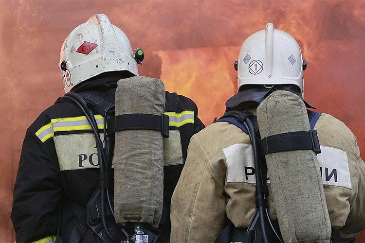 Боевое развертывание во время пожара