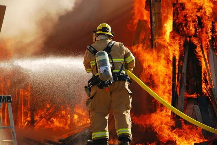 Ликвидация горения пожарными