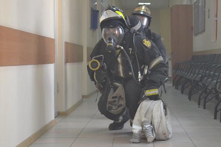 Специальные работы во время пожара