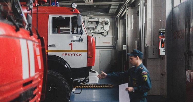 Дежурство пожарной машины