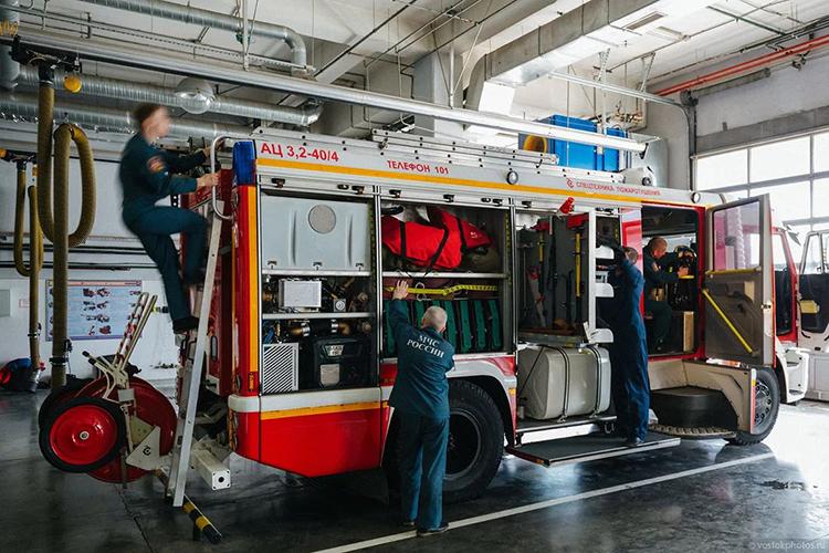 Первое ТО пожарных машин