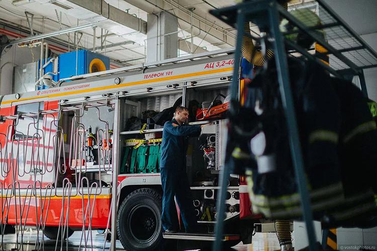 Второе ТО пожарных машин
