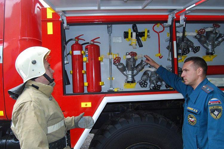 Ежедневное ТО пожарных машин