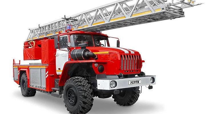 Высота пожарной машины