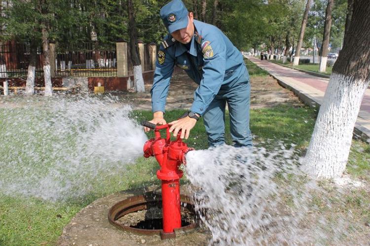 Испытание гидранта на водоотдачу