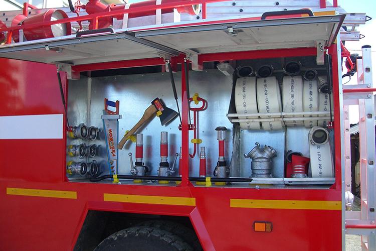 Стандартный пакет оборудования пожарного автомобиля