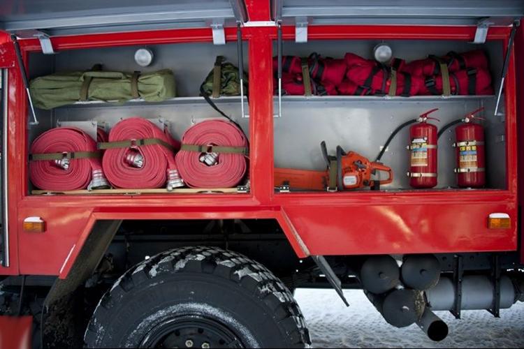 Размещение пожарного оборудования в автомобиле