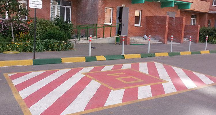 Площадка для пожарных машин