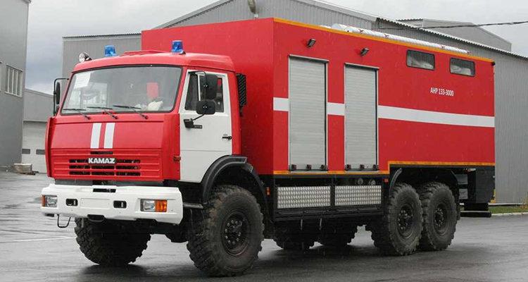 Пожарный насосный автомобиль