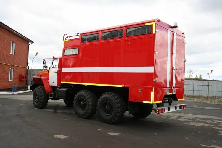 Пожарный рукавный автомобиль АР-2 (Урал 5557)-56ВР