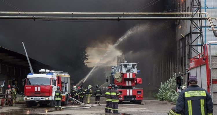 Тушение пожара на объекте