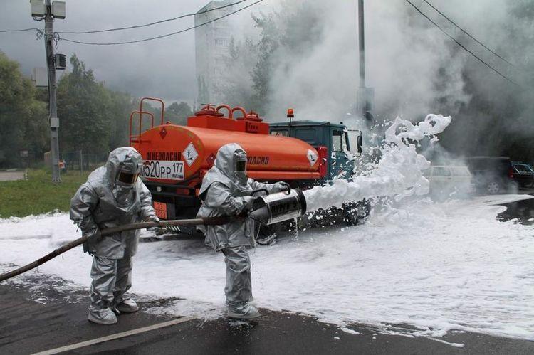 Тушение пожара на химически опасных объектах