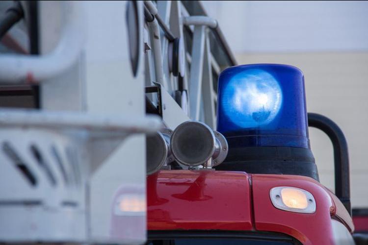 Проблесковые маячки на пожарной машине