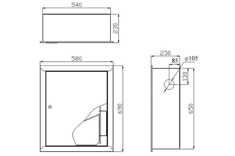 Шкаф пожарный ШПК-310 - размеры
