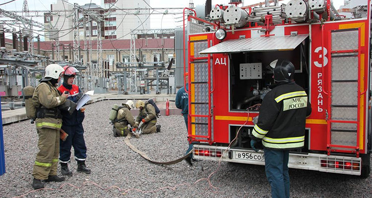 Заземление пожарных машин