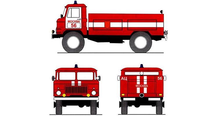 Обозначения пожарных автомобилей