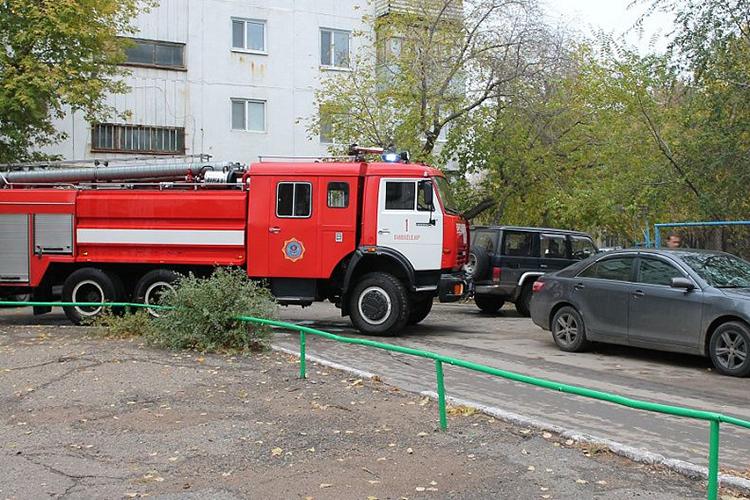Разворот пожарной машины