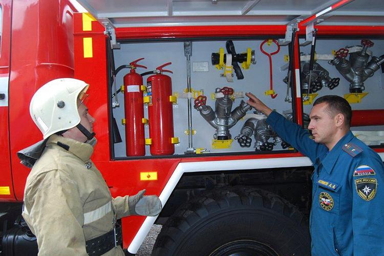 Обслуживание пожарных машин