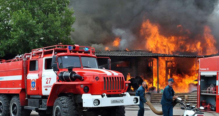 Использование пожарной техники