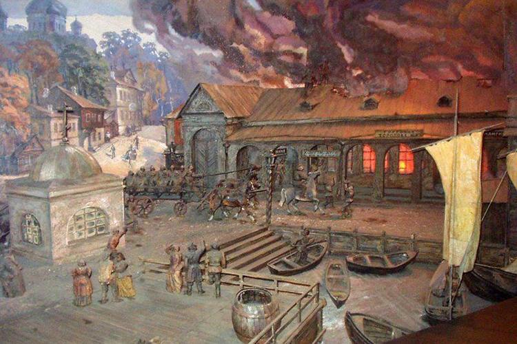 Тешение пожара первыми бригадами