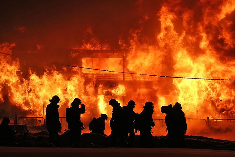 Направление при тушении пожаров