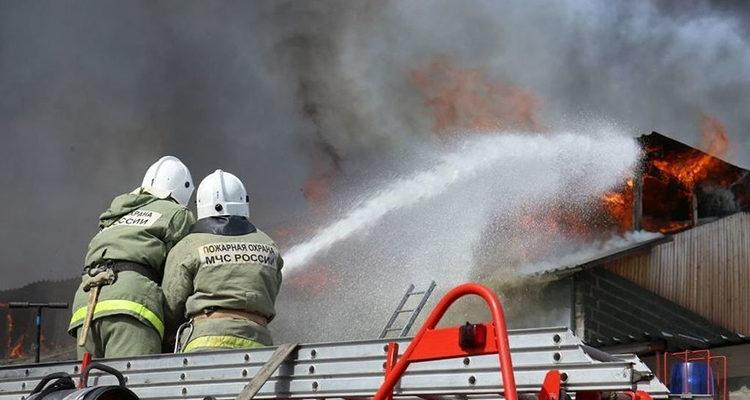 Тушение пожара в школах