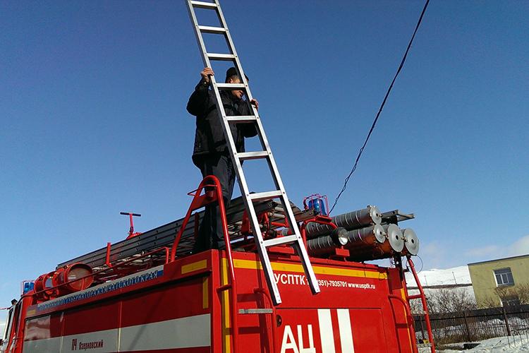 Эксплуатация пожарной лестницы-палки