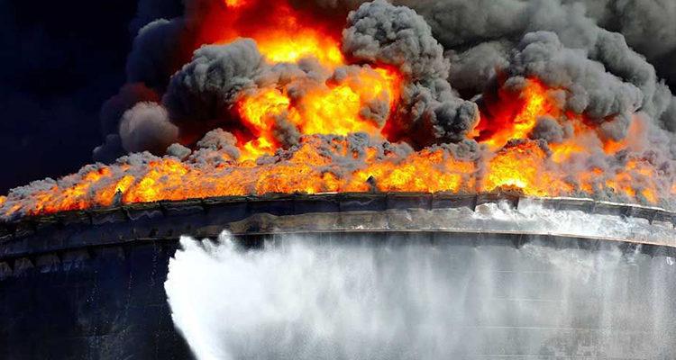 Тушение нефти и нефтепродуктов