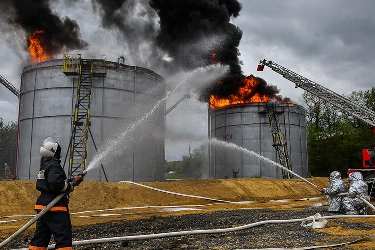 Общие правила тушения пожаров нефтепродуктов
