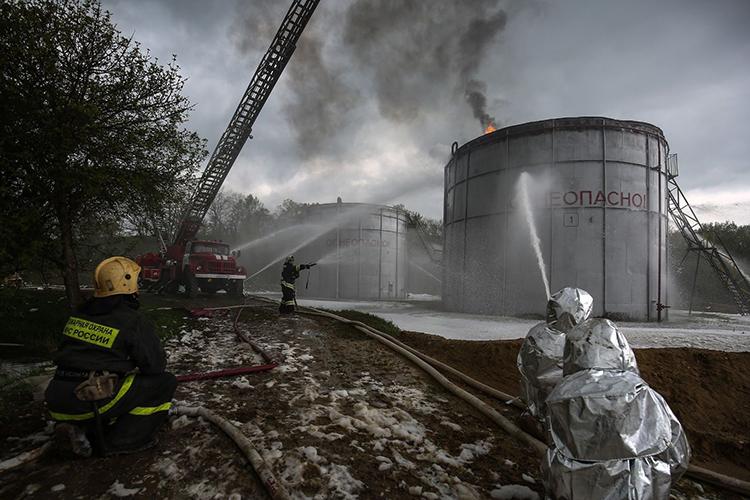 Техника безопасности при тушении нефти и нефтепродуктов