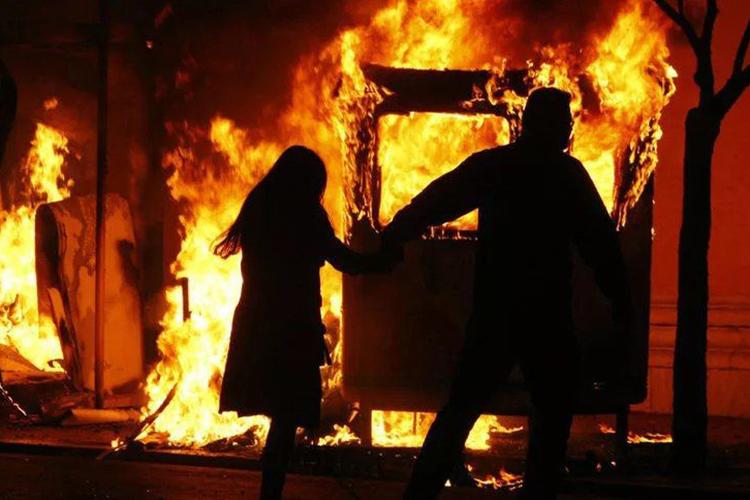 Паника во время пожара