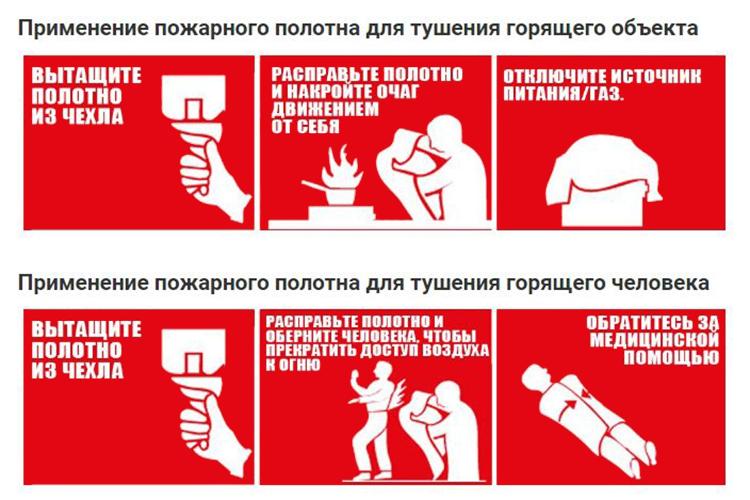 Кошма противопожарная - правила использования