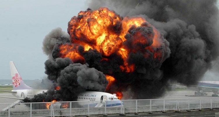Действия при пожаре в самолете