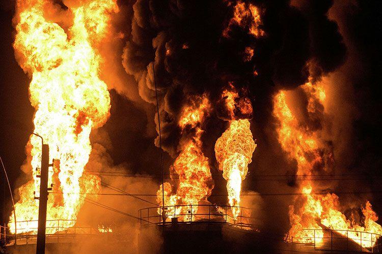 Пожар на электростанции