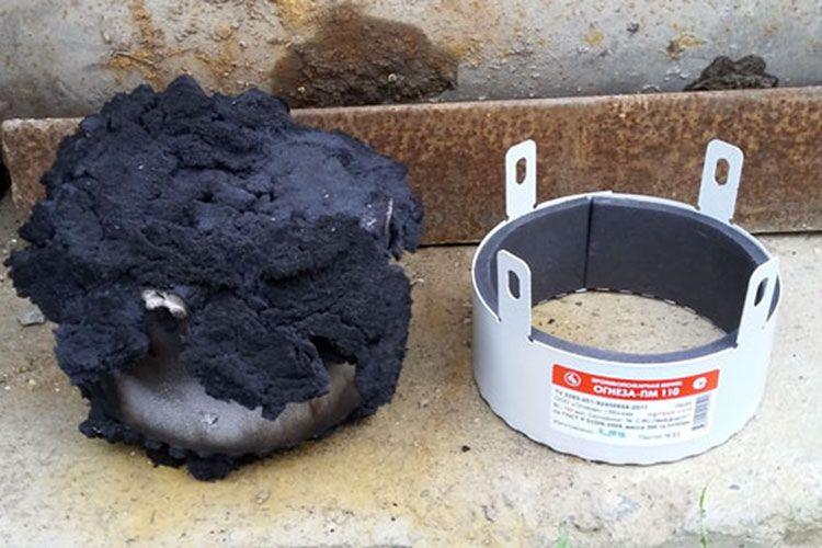 Испытание противопожарной муфты