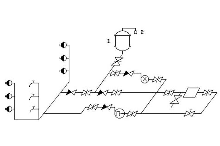 Схема для системы с пневмоустановкой