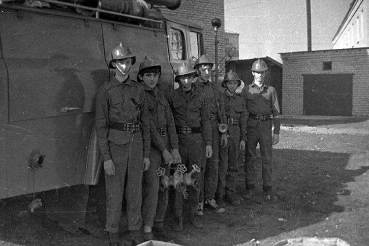 Пожарные в 1970 г.